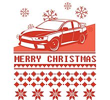 Merry Christmas evo - red Photographic Print