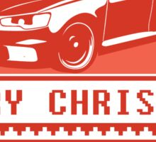 Merry Christmas evo - red Sticker