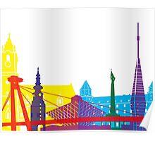Bratislava skyline pop Poster
