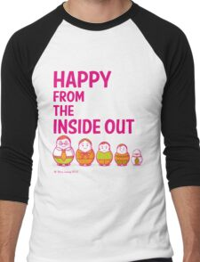 Happy from the inside out Men's Baseball ¾ T-Shirt