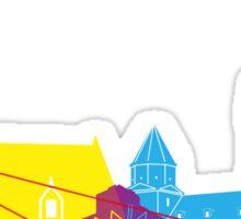 Bratislava skyline pop Sticker