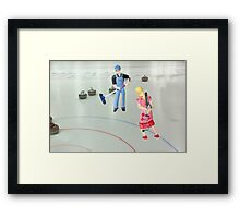 Well  Sally, what did you THINK I meant when I asked if you wanted to go curling???? Framed Print