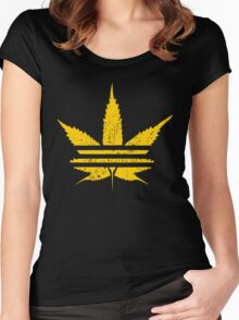 ADIDASH VINTAGE YELLOW  Women's Fitted Scoop T-Shirt