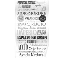 Harry Potter Spells Poster
