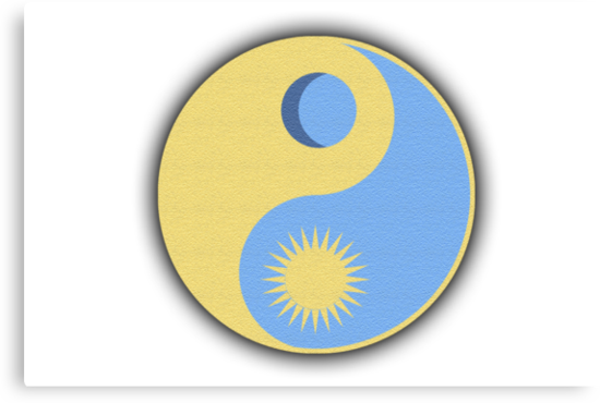 Yin Yang Sun And Moon by DetectiveBerry