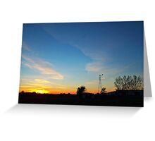 Dakota Dusk Greeting Card