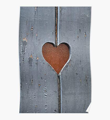 Heart-shaped cut. Poster