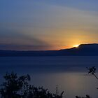 sunset over mainland greece  by MJDphotography