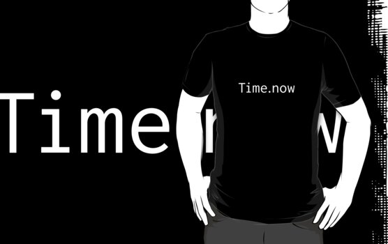 Time.now (from the Ruby programming language) t-shirt by andreivolt