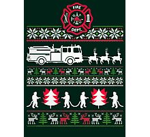 CHRISTMAS FIREFIGHTER UGLY SWEATER Photographic Print