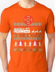 CHRISTMAS FIREFIGHTER UGLY SWEATER T-Shirt