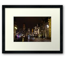 Ghent historical centre by night Framed Print