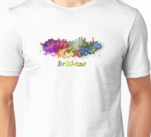 Brisbane skyline in watercolor Unisex T-Shirt