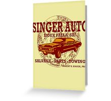 SINGER AUTO Greeting Card