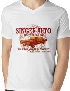 SINGER AUTO Mens V-Neck T-Shirt
