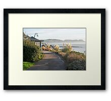 Langmoor-Lister Gardens - Lyme Regis Framed Print