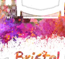 Bristol skyline in watercolor Sticker