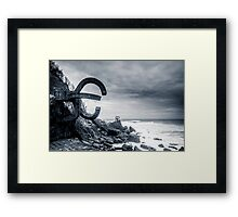 Combing the wind Framed Print