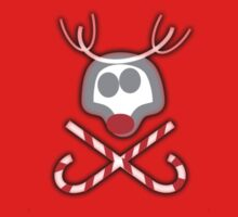 Rudolph Jolly Roger with Candy Canes Kids Clothes