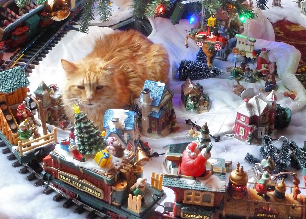 Christmas Cat by Nadya Johnson
