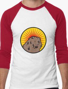 Dramatic Chipmunk Men's Baseball ¾ T-Shirt