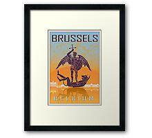Brussels vintage poster Framed Print
