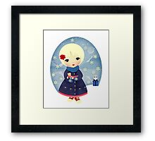 Rosy Snowflakes Framed Print