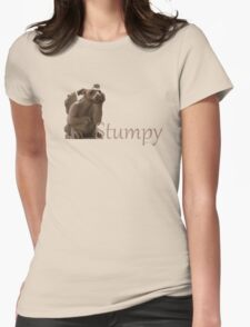 The Librarians Stumpy in colour Womens Fitted T-Shirt