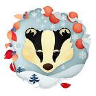 Christmas Wildlife: Badger by Jenny Lloyd