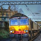 Class 66 66413 Passing Saltaire by andyj81