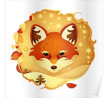 Christmas Wildlife: Foxy Poster
