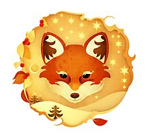 Christmas Wildlife: Foxy Photographic Print