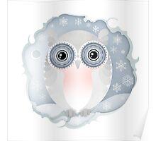 Christmas Wildlife: Snowy Owl Poster