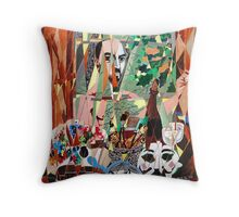 'Self-Portrait in Studio' Throw Pillow