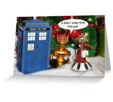 WHO is in the Box? Greeting Card