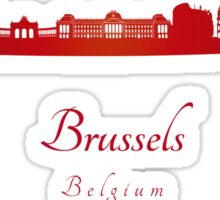 Brussels skyline in red  Sticker