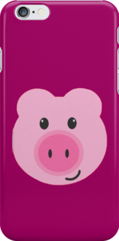 Pink Pig - Iphone case  by sullat04
