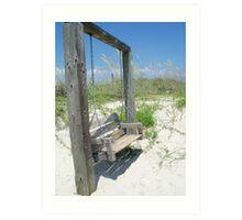 Summer Swing, Tybee Island Art Print