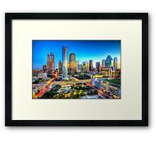 Dallas Skyline 1 Framed Print
