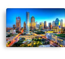 Dallas Skyline 1 Canvas Print