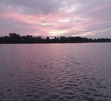 Pink Sunset in Kangasala by Lyraspiral