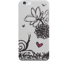The snail and the flowers iPhone Case/Skin