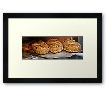 Freshly baked bread in an electric oven  Framed Print