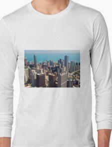 Aerial view of Chicago IL Long Sleeve T-Shirt