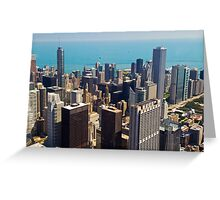 Aerial view of Chicago IL Greeting Card