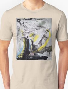 Drawing On Stone - Original painting on Canvas Mixed media by famous Russian musician  Unisex T-Shirt