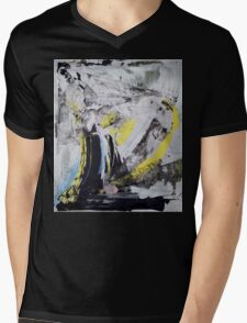 Drawing On Stone - Original painting on Canvas Mixed media by famous Russian musician  Mens V-Neck T-Shirt