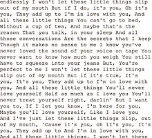 little things lyrics by infinitemoments