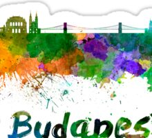 Budapest skyline in watercolor Sticker