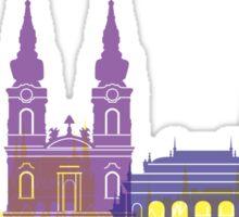 Budapest skyline pop Sticker
